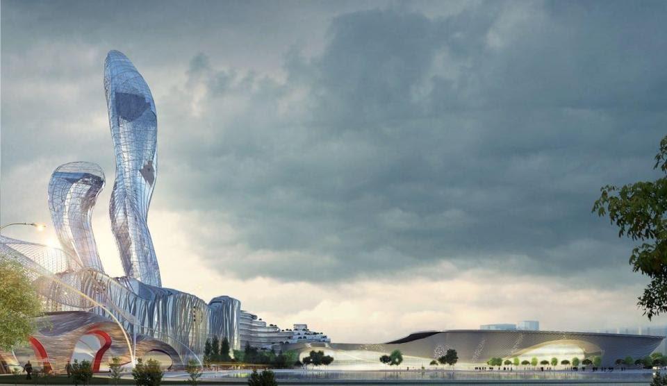 Proposed rendition of a true life 'Wakanda' based in Diamniadio Lake City in Senegal